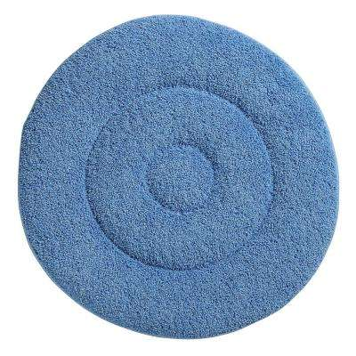 19 in. Blue Microfiber Carpet Cleaning Bonnet (2-Pack)