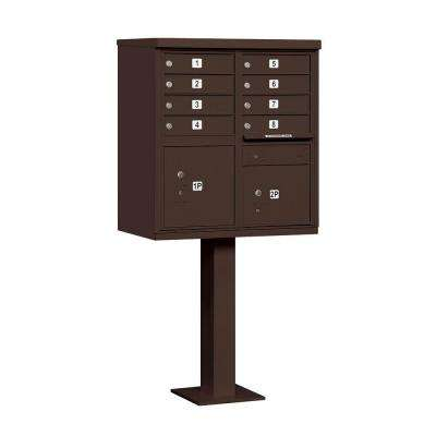 3300 Series Bronze Private 8 A Size Doors Type I Cluster Box Unit