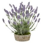 20 in. Lavender Artificial Plant in Weathered Oak Planter