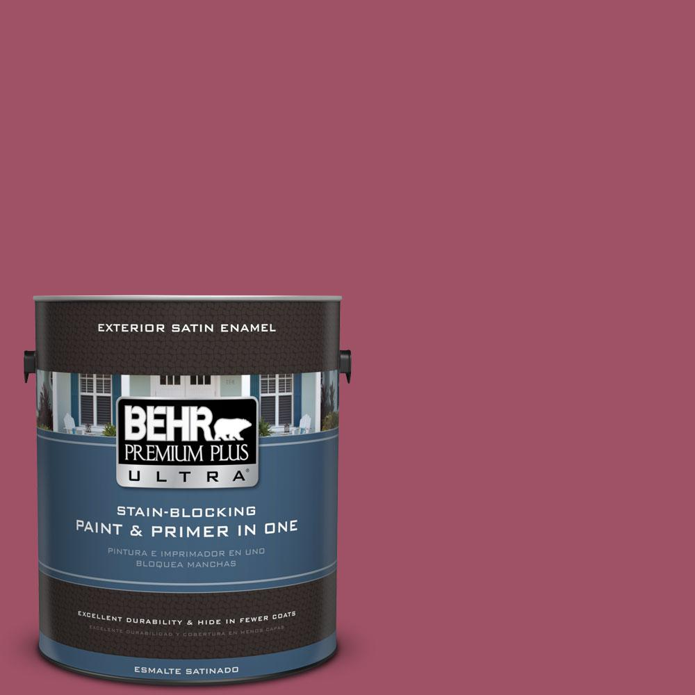 BEHR Premium Plus Ultra 1-gal. #110D-5 Mission Wildflower Satin Enamel Exterior Paint