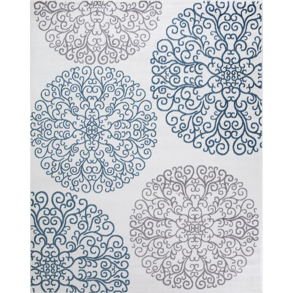 Concord Global Trading Concord Global Trading Madison Collection Vintage Ivory 5 ft. 3 in. x 7 ft. 3 in. Area Rug