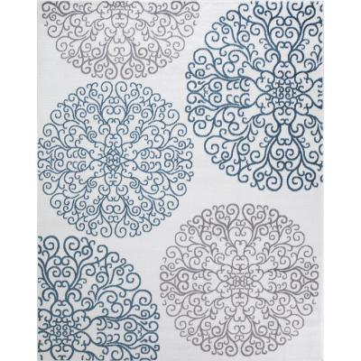 Madison Collection Vintage Ivory 5 ft. 3 in. x 7 ft. 3 in. Area Rug