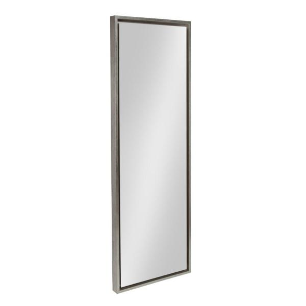 Large Rectangle Silver Full-Length Art Deco Mirror (48 in. H x 16 in. W)