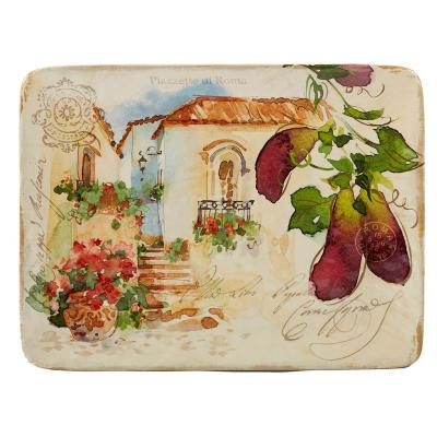 Piazzette Multi-Colored 16 in. x 12 in. Ceramic Rectangular Platter