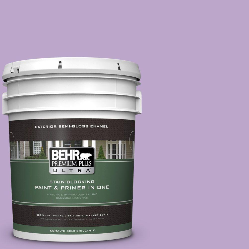 BEHR Premium Plus Ultra 5-gal. #M570-4 Cyber Grape Semi-Gloss Enamel Exterior Paint