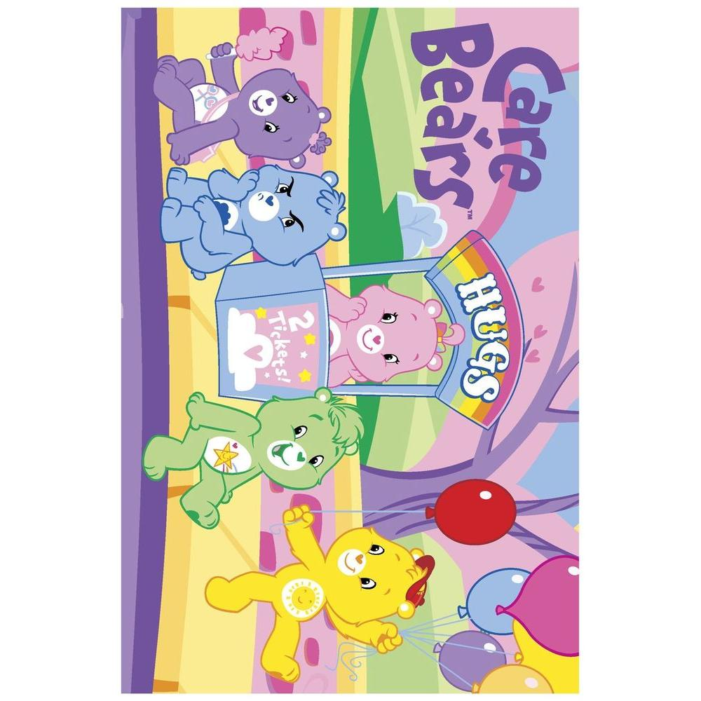 LA Rug Care Bears Hugs Multi Colored 39 in. x 58 in. Area Rug-DISCONTINUED