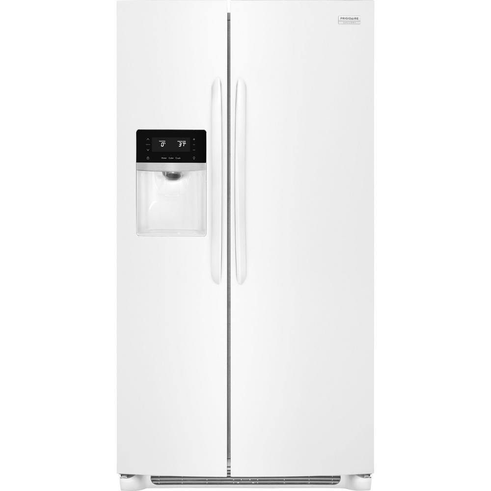 25.6 cu. ft. Side by Side Refrigerator in White