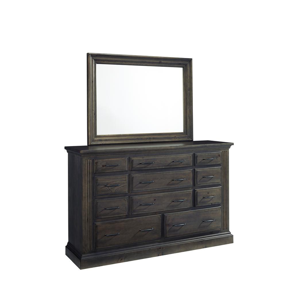 Fordham 11-Drawer Ash Dresser with Mirror