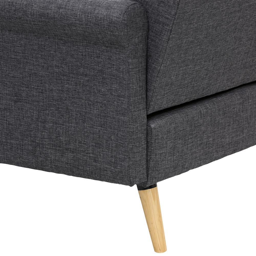 Enjoyable Furinno Retro Vintage Dark Gray Loveseat Sofa Sf809N3Dgy Machost Co Dining Chair Design Ideas Machostcouk