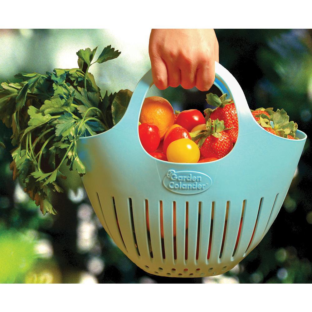 Hutzler Garden Colander Eggshell Blue