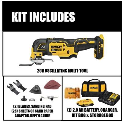 20-Volt MAX Lithium-Ion Cordless Brushless Oscillating Tool Kit