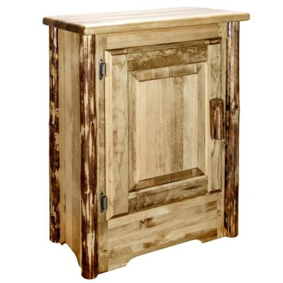 Glacier Country Collection Left Hinged Brown Accent Cabinet
