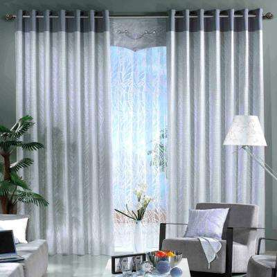 28 in. x 48 in. Telescoping 3/4 in. Single Curtain Rod in Nickel with Round Cage Ball Finial