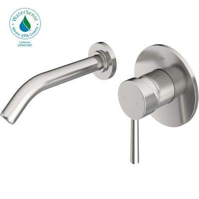 Single Hole Single-Handle Wall-Mount Vessel Bathroom Faucet in Brushed Nickel