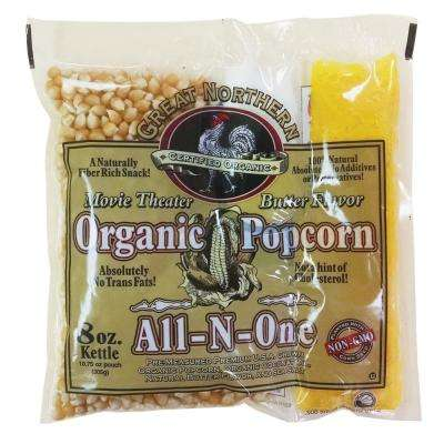 8 oz. Certified Organic Movie Theater Popcorn Portion-Packs (18-Count)