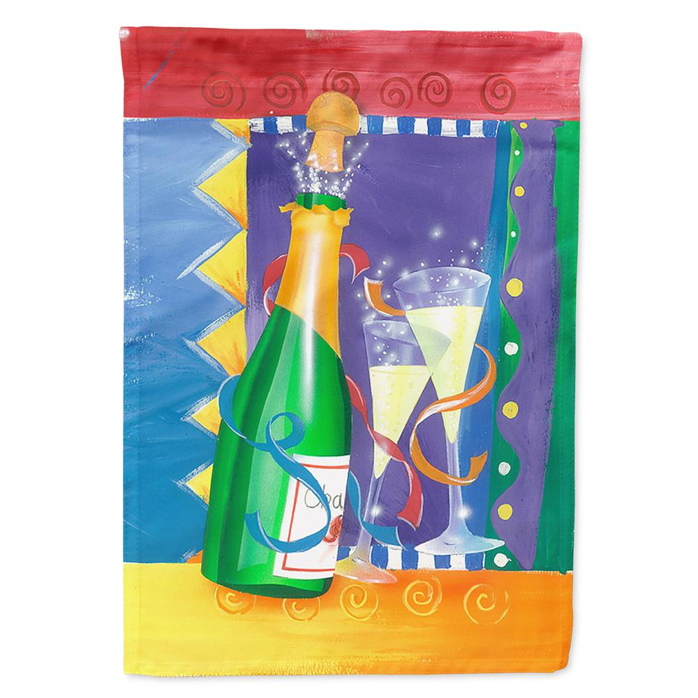 Caroline's Treasures 28 in  x 40 in  Polyester New Years Celebration Toast  Flag Canvas House Size 2-Sided Heavyweight