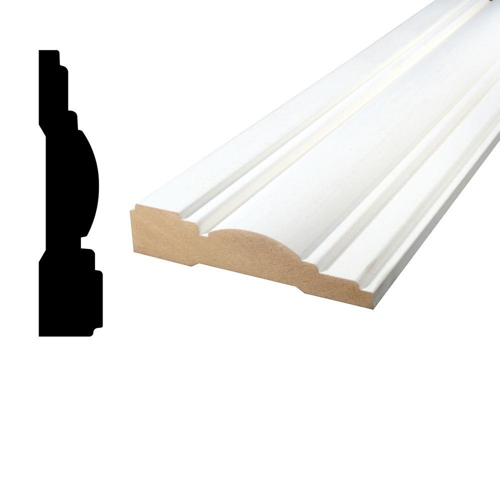 1 in. x 4-1/2 in. x 96 in. Primed MDF Casing