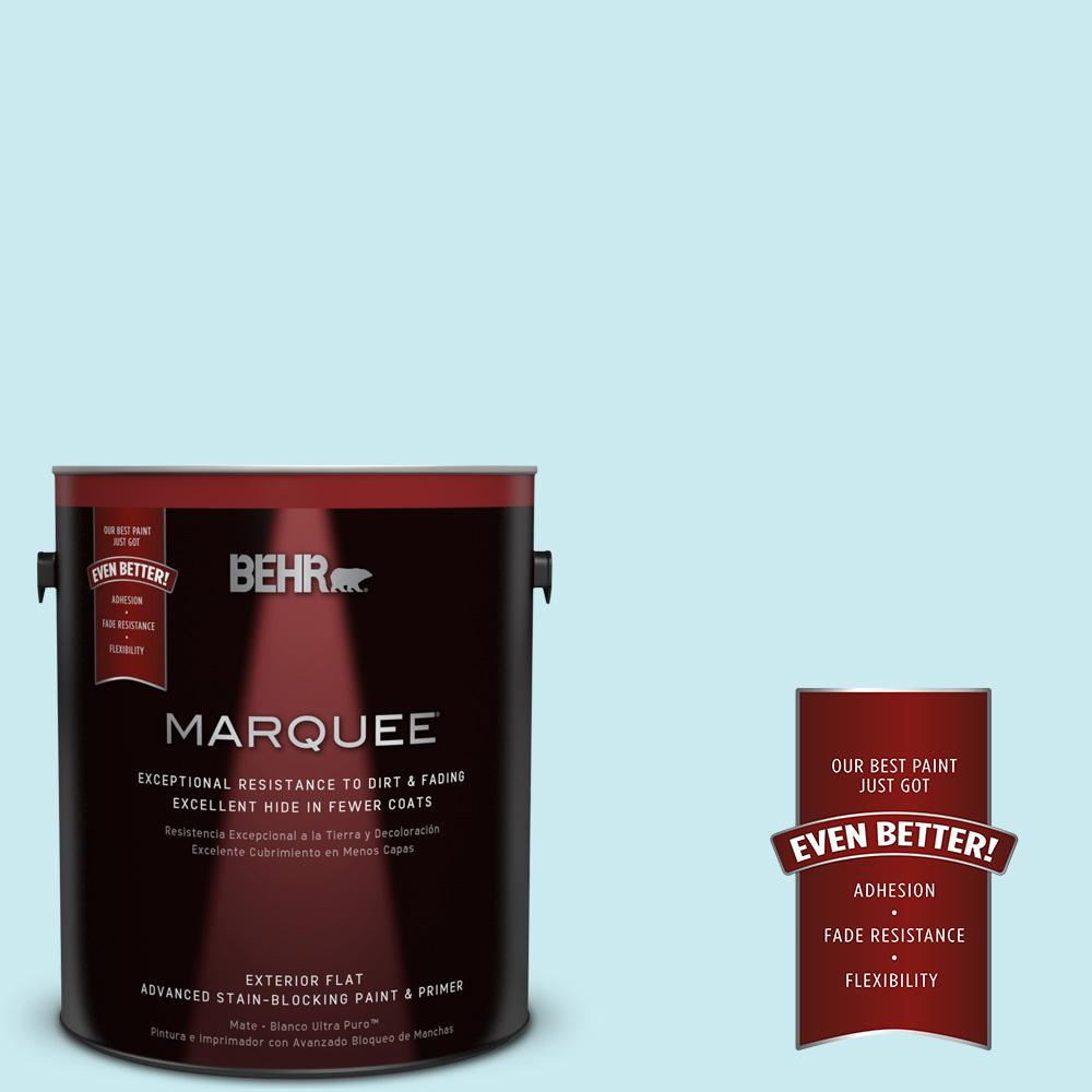 BEHR MARQUEE 1-gal. #520C-2 Fountain Spout Flat Exterior Paint