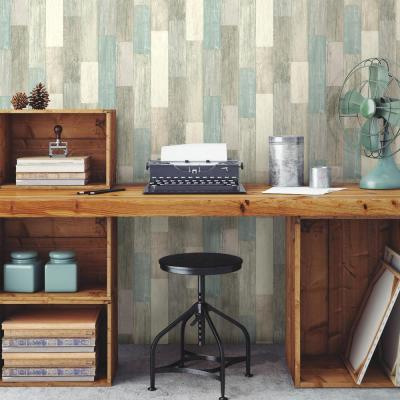 28.18 sq. ft. Coastal Weathered Plank Peel and Stick Wallpaper