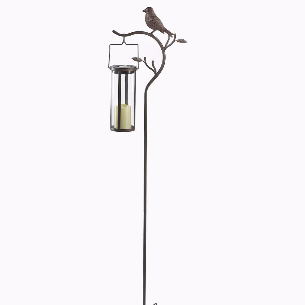 45 in. H Provence Bird Stake with 8 in. H 1-Light