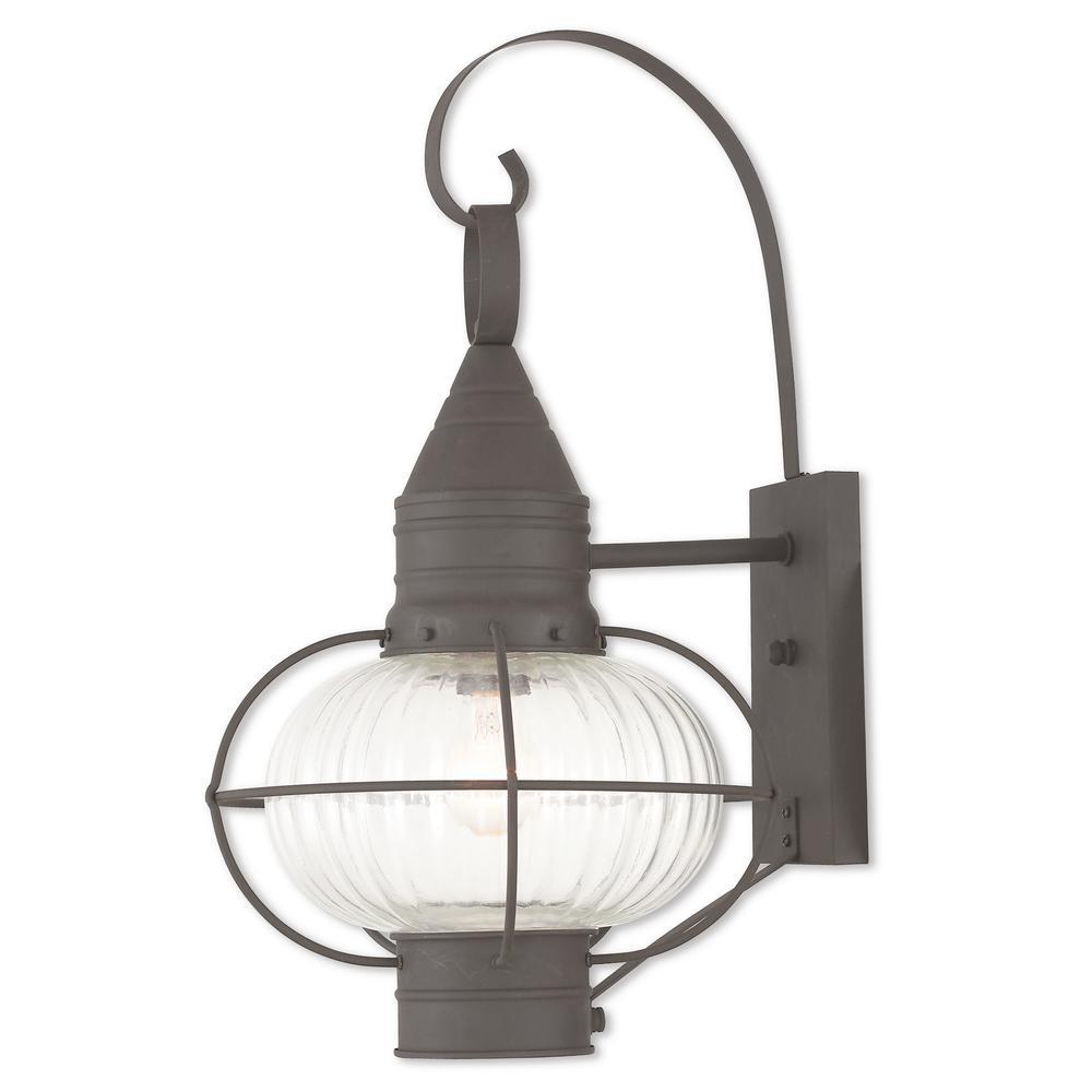 Newburyport 1-Light Bronze Outdoor Wall Mount Lantern