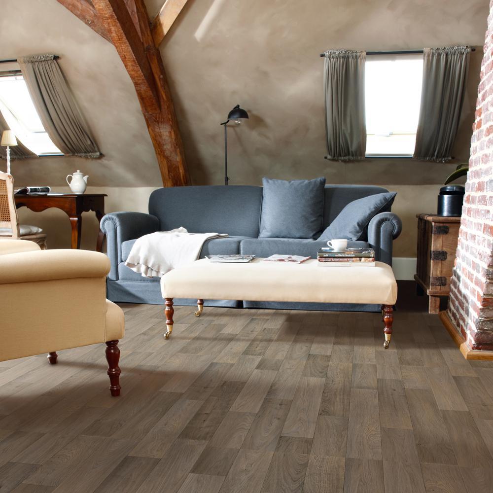 Trafficmaster Greyed Oak Plank Residential Vinyl Sheet Sold By 12