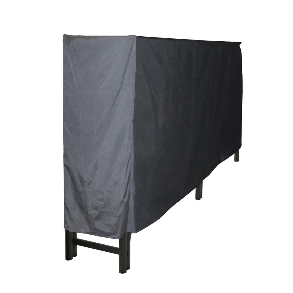 Pleasant Hearth 8 ft. Polyester Full-Length Firewood Rack Cover