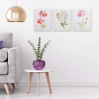 Pink June Blooms Canvas Wall Art