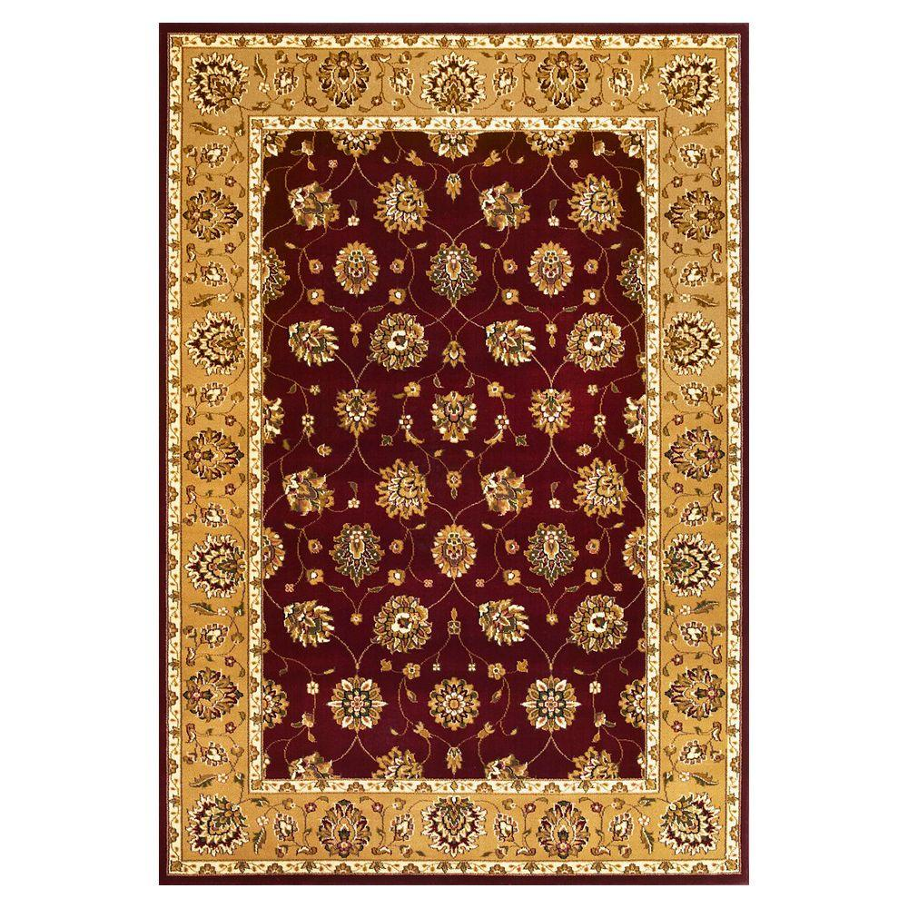 Kas Rugs Classic Tabriz Red/Beige 7 ft. 7 in. x 10 ft. 10 in. Area Rug