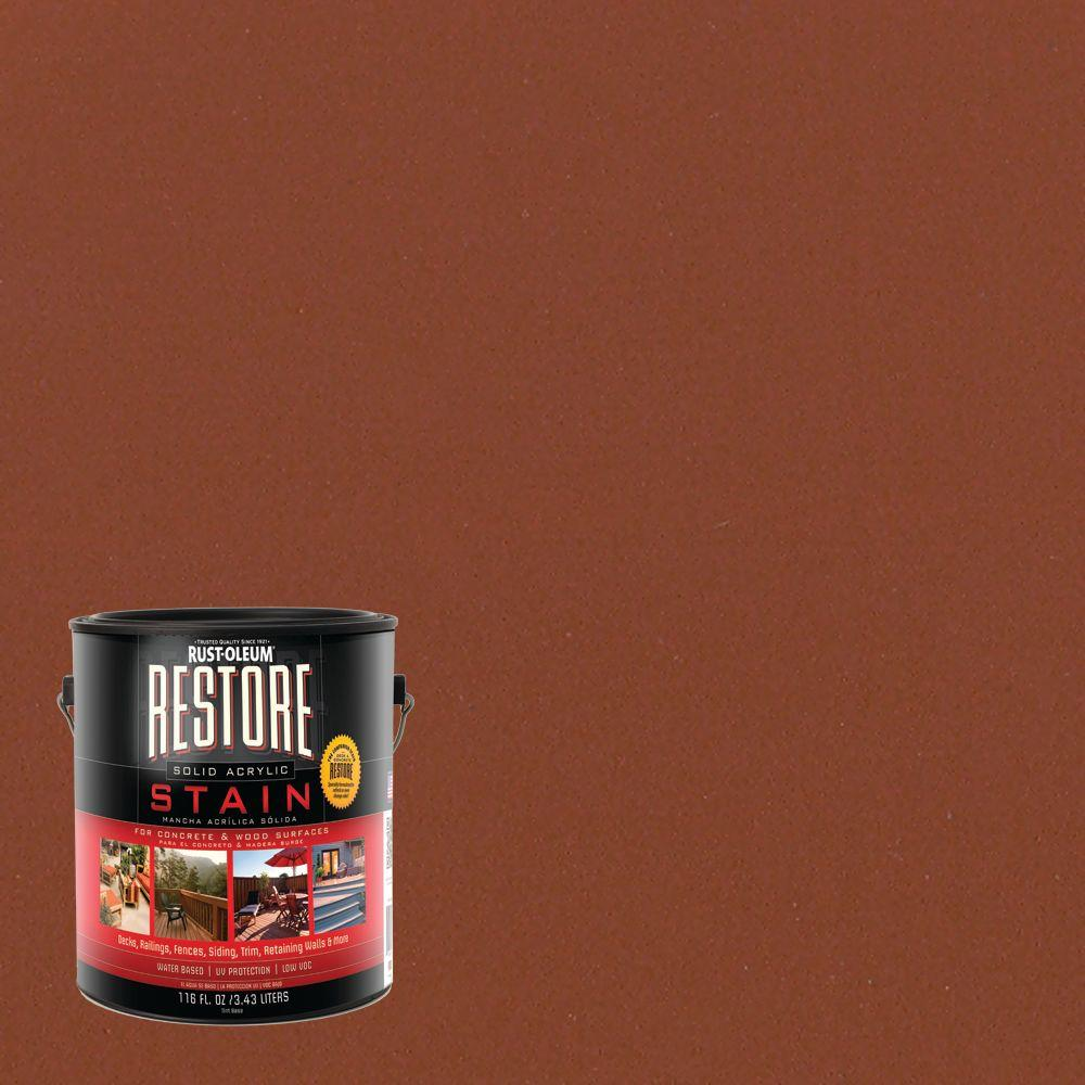 Rust-Oleum Restore 1 gal. Solid Acrylic Water Based Redwood Exterior Stain