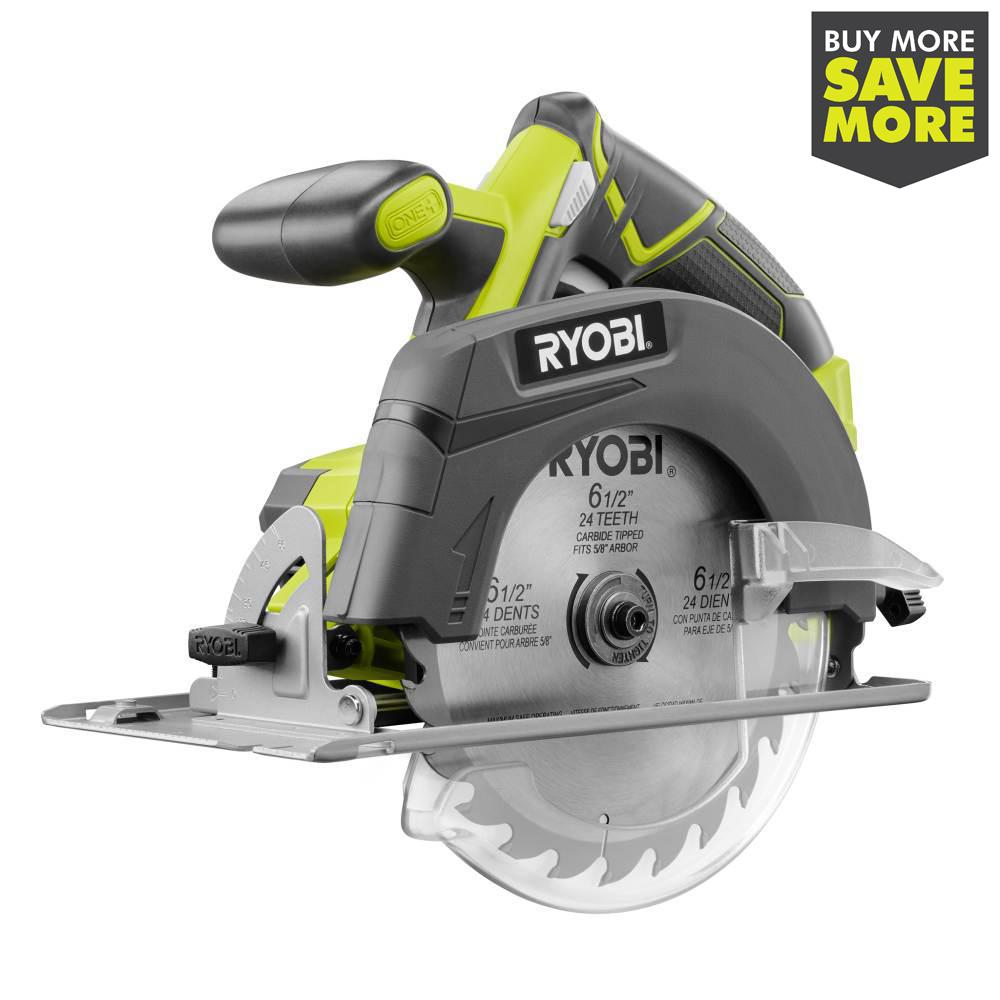 RYOBI 18-Volt ONE+ Cordless 6-1/2 in. Circular Saw (Tool Only)