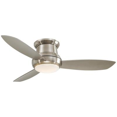 Concept II 52 in. Integrated LED Indoor Brushed Nickel Ceiling Fan with Light with Remote Control