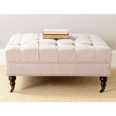 Clark Taupe Accent Ottoman
