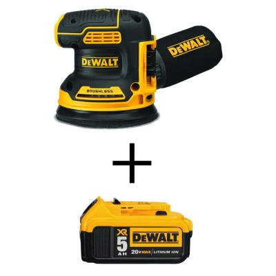 20-Volt MAX XR Li-Ion Cordless Brushless 5 in. Random Orbital Sander (Tool-Only) with 20-Volt Li-Ion (1) 5.0Ah Battery