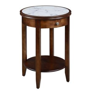 American Heritage Espresso Baldwin End Table with Drawer