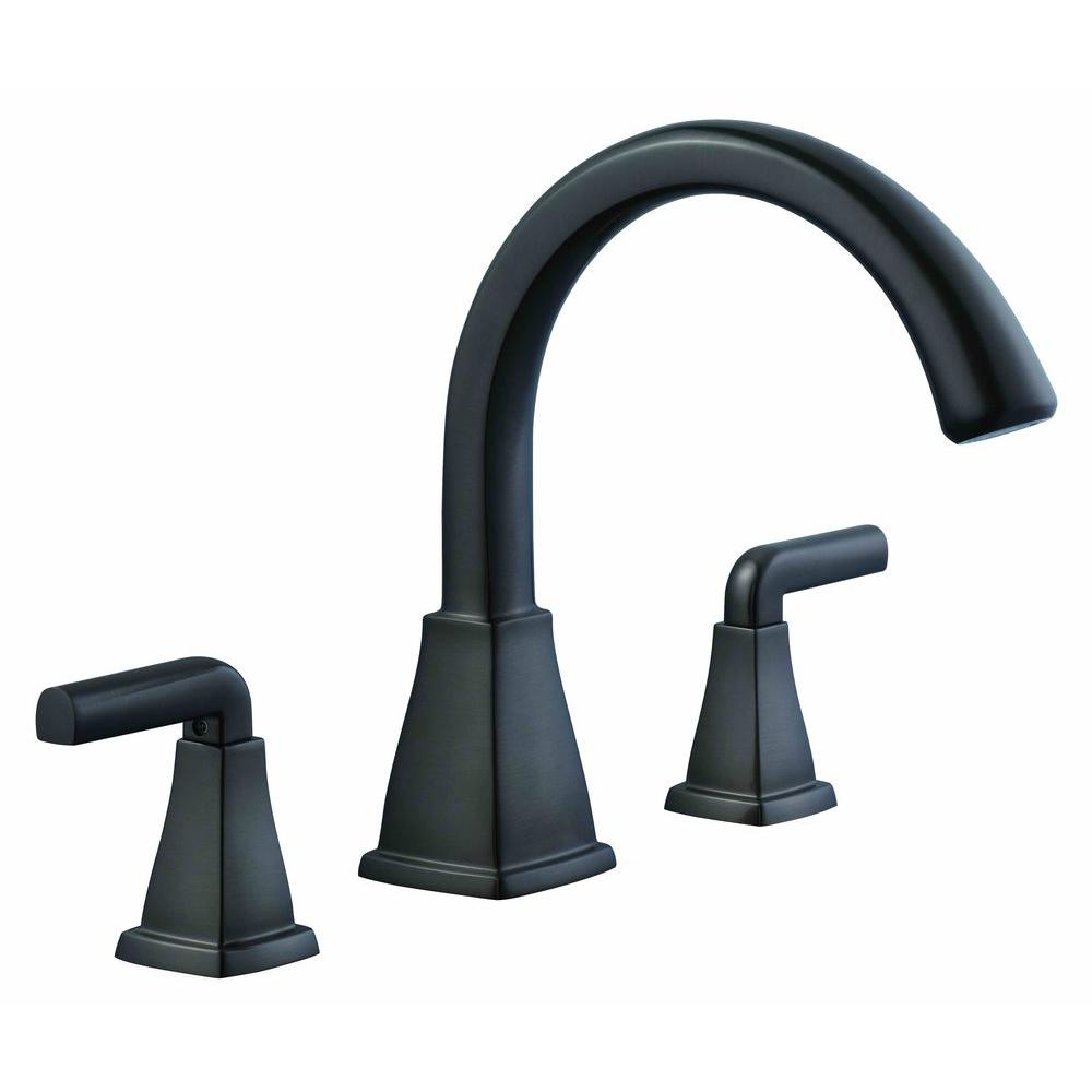 Brookglen 2-Handle Deck-Mount Roman Tub Faucet in Bronze
