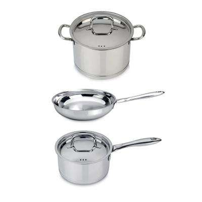 CollectNCook 5-Piece 18/10 Stainless Steel Italian Cookware Set