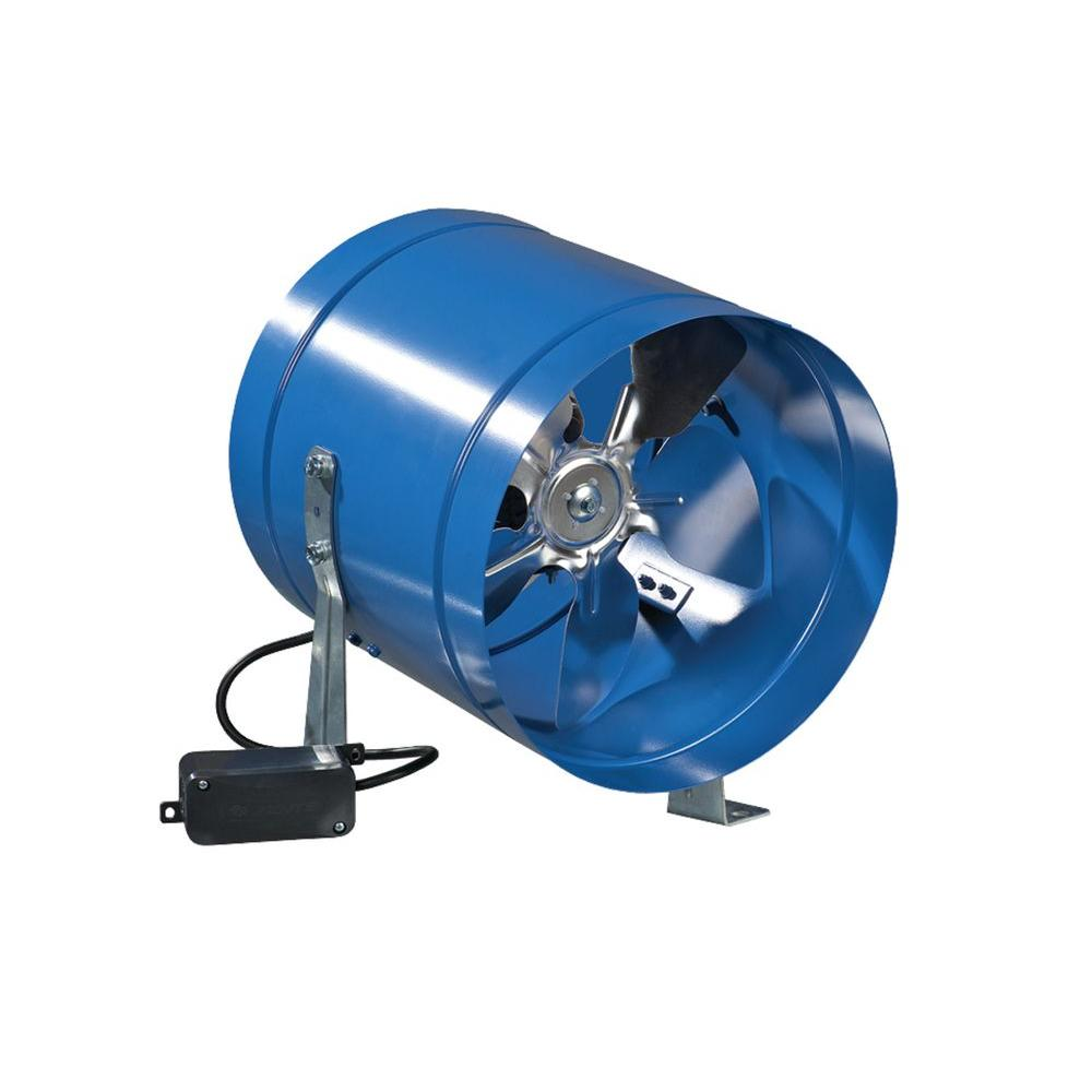 Inline Duct Fans Home Depot : Vents us cfm power in metal axial line duct fan
