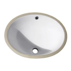 American Standard Ovalyn Undermount Bathroom Sink In White