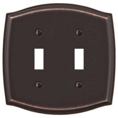 Vineyard 2 Toggle Wall Plate - Aged Bronze Steel
