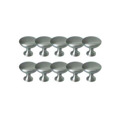 Midtown 1-3/16 in. Satin Nickel Cabinet Knob Value Pack (10 per Pack)