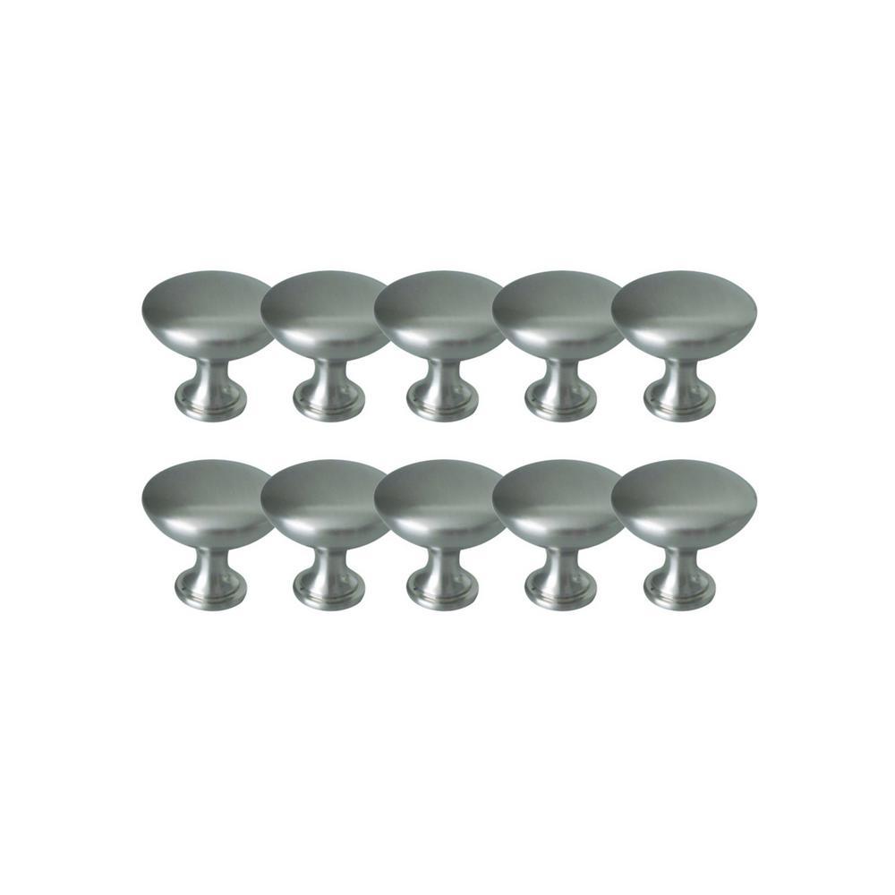 Midtown 1-3/16 in. Satin Nickel Cabinet Knob Value Pack (10 per Pack)