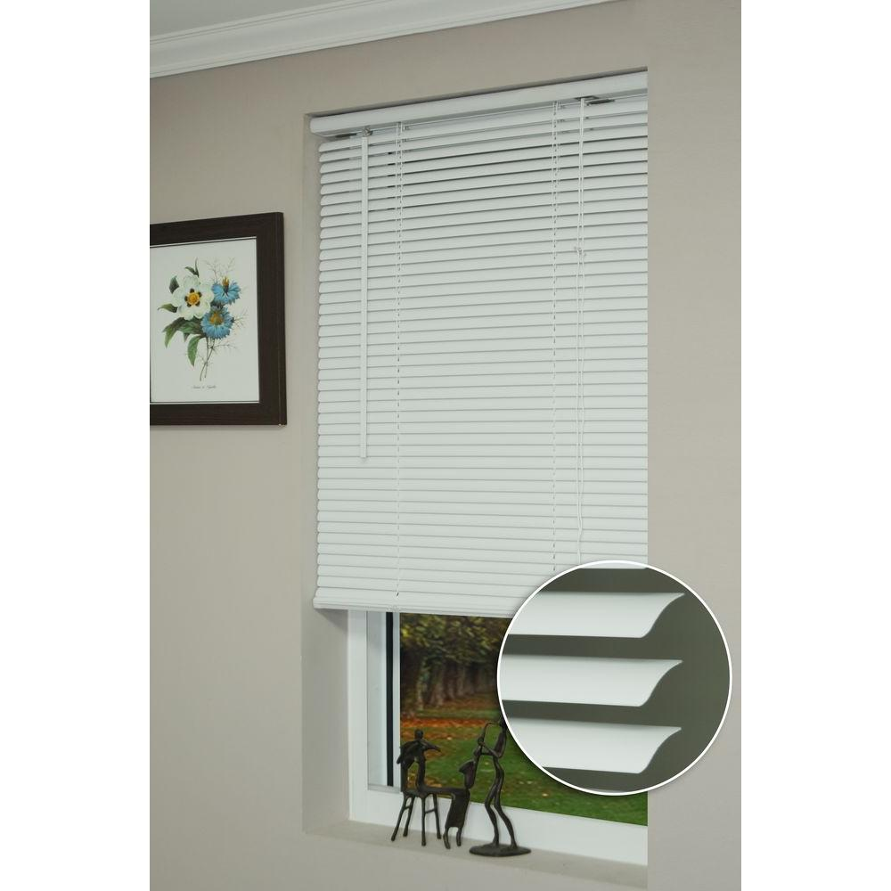 vinyl mini blinds deluxe sundown white 1 in room darkening vinyl mini blind 29411