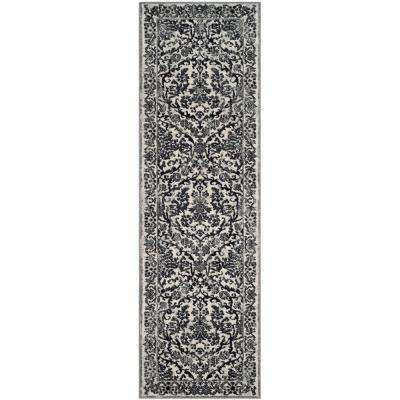 Evoke Ivory/Gray 2 ft. x 15 ft. Runner Rug