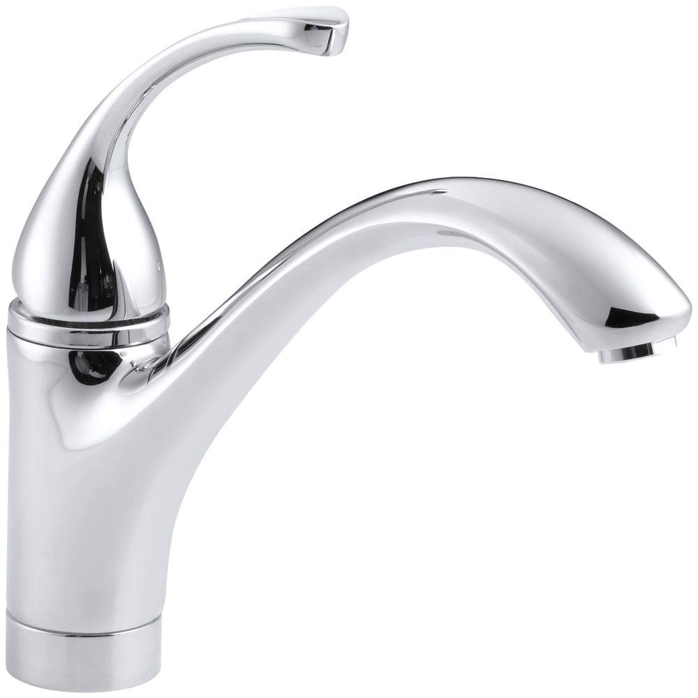 KOHLER Forte Single-Handle Standard Kitchen Faucet with Lever Handle ...
