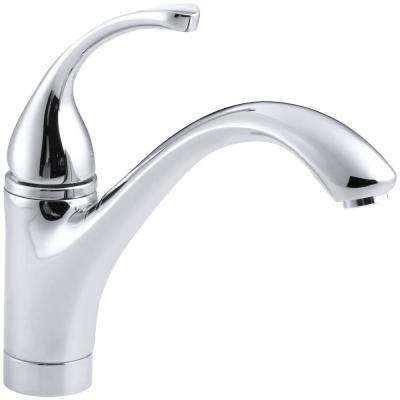 Forte Single-Handle Standard Kitchen Faucet with Lever Handle in Polished Chrome