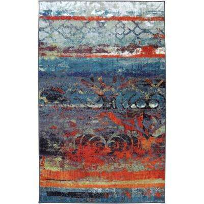 Eroded Color Multi 5 ft. x 8 ft. Area Rug
