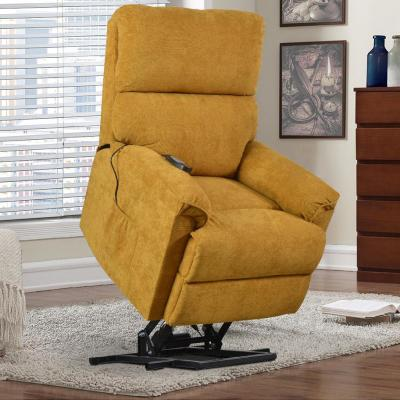 Yellow Power Lift Massage Soft Upholstery Recliner Living Room Sofa Chair with Remote