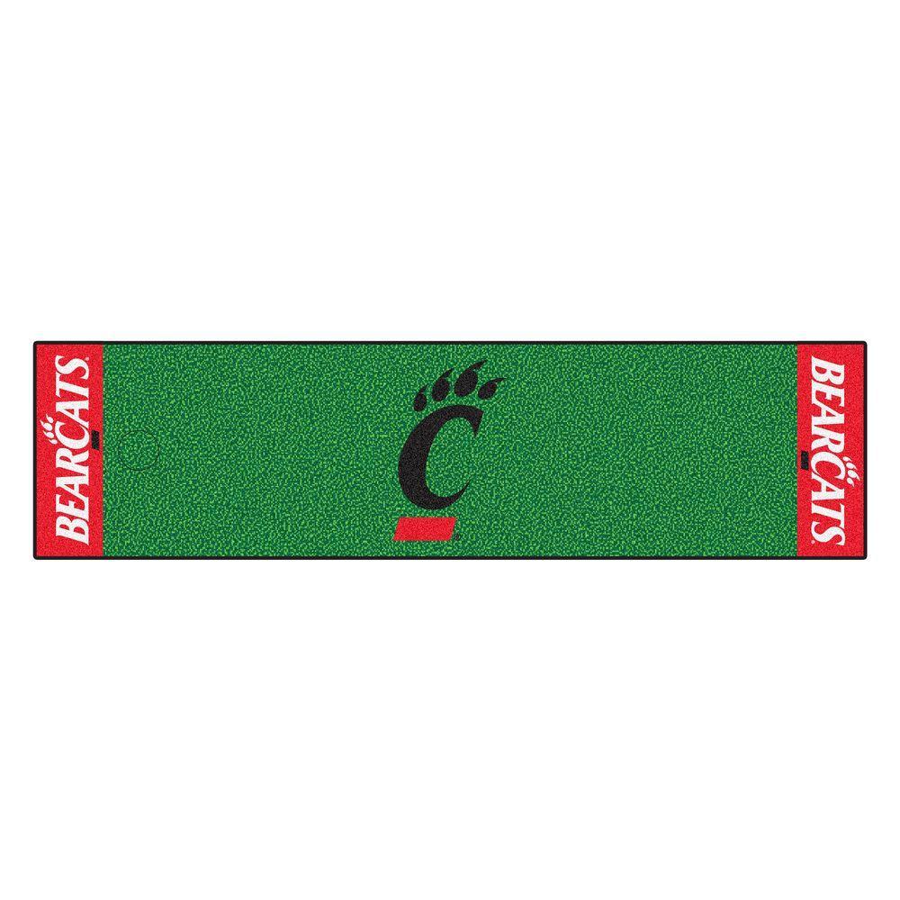 NCAA University of Cincinnati 1 ft. 6 in. x 6 ft. Indoor 1-Hole Golf Practice Putting Green