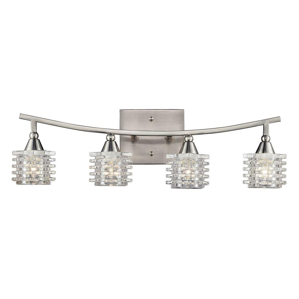 Titan Lighting Matrix 4-Light Satin Nickel Bath Bar Light-TN-6070 ...
